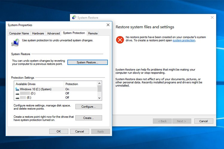 Photo of چگونگی ایجاد نقطه بازگردانی(restore)در ویندوز 10
