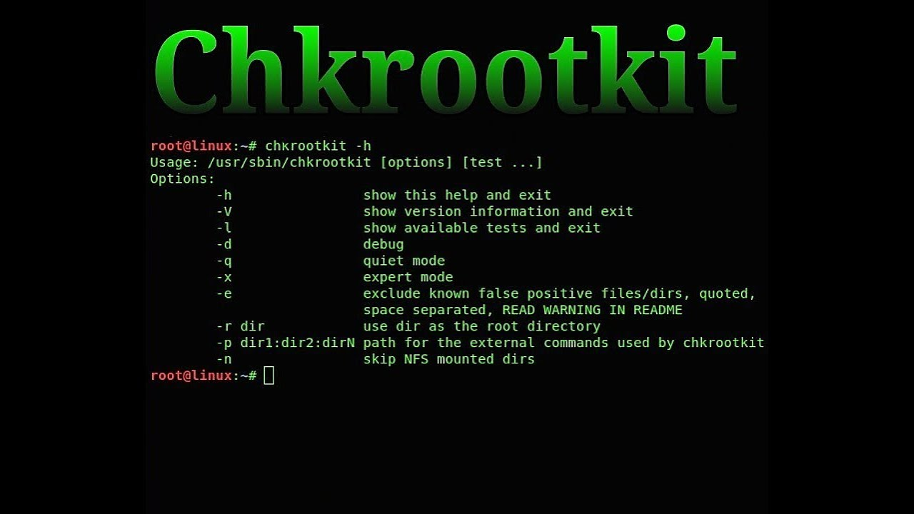 نصب chkrootkit بر روی اوبنتو