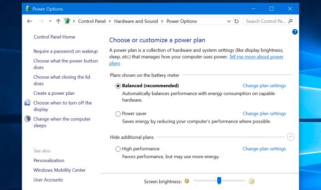 تنظیم روشنایی صفحه در ویندوز 8