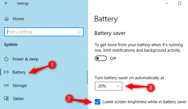 تنظیم خودکار روشنایی بر اساس میزان باتری