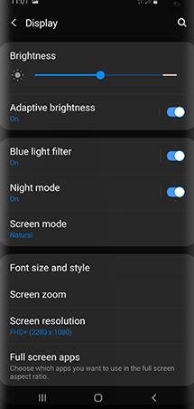 تنظیم روشنایی صفحه در اندروید