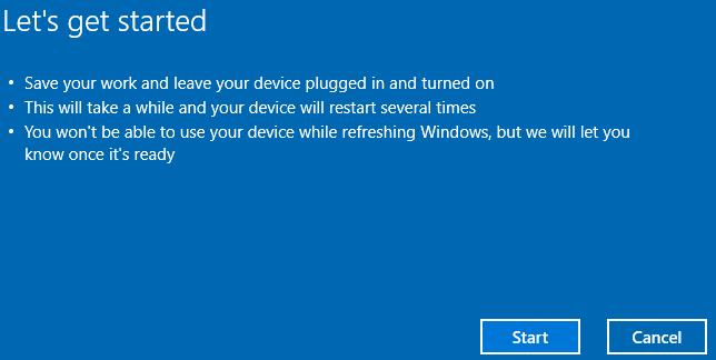 نصب مجدد ویندوز 10 بدون فایل نصبی ویندوز
