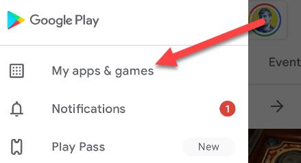 بخش My Apps & Games در گوگل پلی