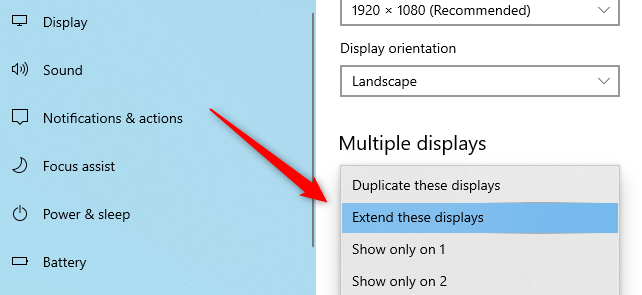 تنظیم نحوه نمایش تصویر در دو مانیتور کامپیوتر