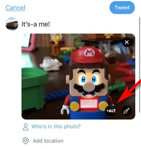 افزودن متن alt به تصاویر در برنامه توییتر