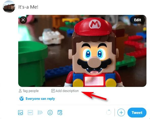 افزودن متن alt به تصاویر در سایت توییتر