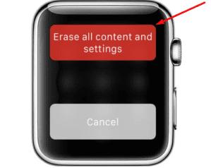 بازگردانی اپل واچ به تنظیمات کارخانه