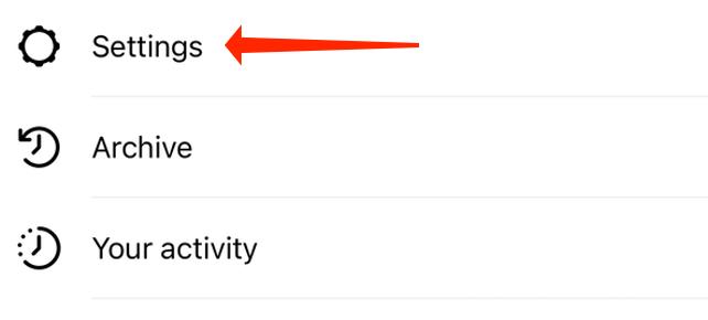 ورود به تنظیمات اینستاگرام