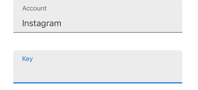 جایگذاری کلید امنیتی اینستاگرام دربرنامه Google Authenticator