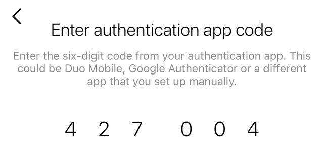 جایگذاری کد 2fa در اینستاگرام